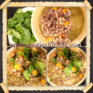 Quinoa, split pea & Spinach