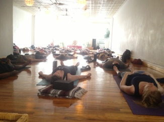 As I observe Tracy Class. Savasana