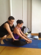 Assist to Baddhakonasana