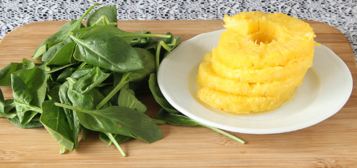 Pineapple and Spinach