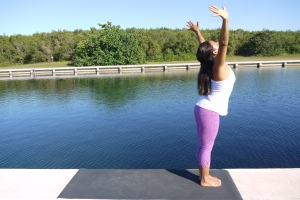 Exhale dive forward with leap of faith