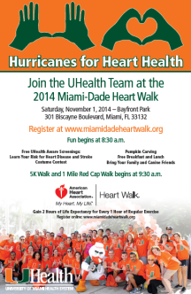 UHealth MiamiDade Heart Walk 2014