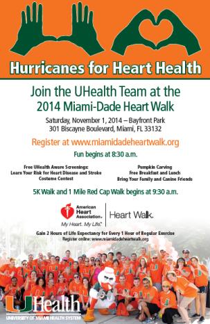 UHealth MiamiDade Heart Walk 2014