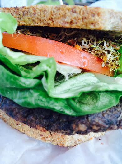 Veggie Burger with Alfalfa